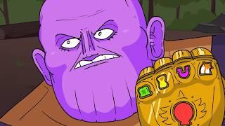 Танос и Тор (Пародия Мстители: Финал)