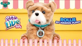 *NEW* Rollie My Kissing Puppy Moose Toys Little Live Pet Just Like a Real Pup 4K