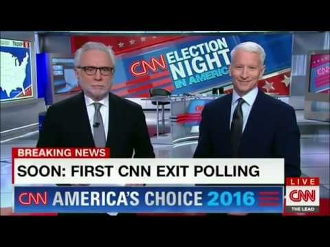 CNN Election Night In America 2016   THE SITUATION ROOM With Wolf Blitzer  And Anderson Cooper   Duration: 1:16. Part 58