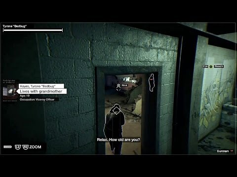 Watch Dogs - Painting A Bug: Guide Bedbug To First Destination Checkpoint Sequence HD Gameplay PS4
