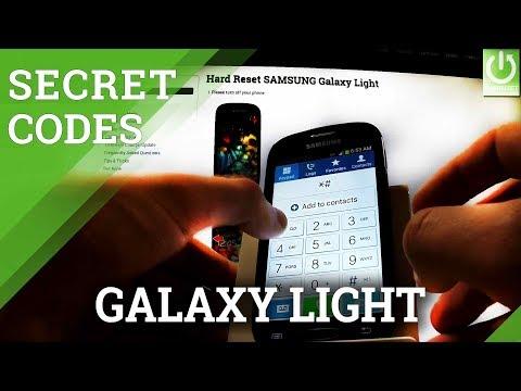 Codes SAMSUNG T399 Galaxy Light - HardReset info