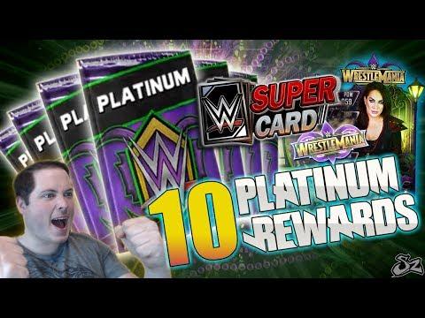 10 WRESTLEMANIA 34 TEAM BATTLEGROUND PLATINUM REWARDS!! | WWE SuperCard S4