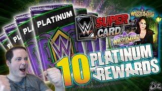 10 WRESTLEMANIA 34 TEAM BATTLEGROUND PLATINUM REWARDS!!   WWE SuperCard S4