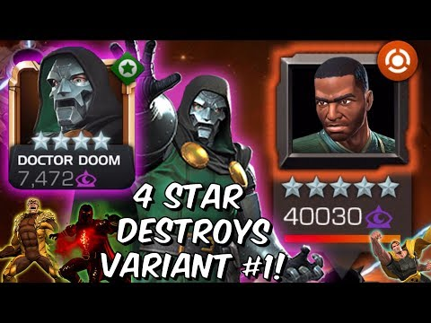 4 Star Doctor Doom DESTROYS Variant #1 Ultron's Assault Chapter 2 - Marvel Contest Of Champions