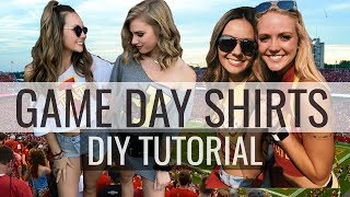 How To Make College Game Day Shirts | DIY Tutorial