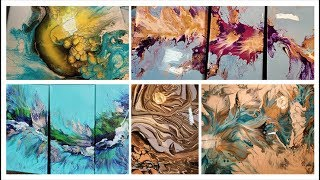 (206)  Super Cuts!!! Most Watched Acrylic Pouring Videos contemporary art
