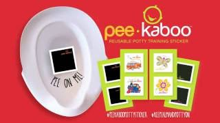 The pee-kaboo reusable potty training sticker™