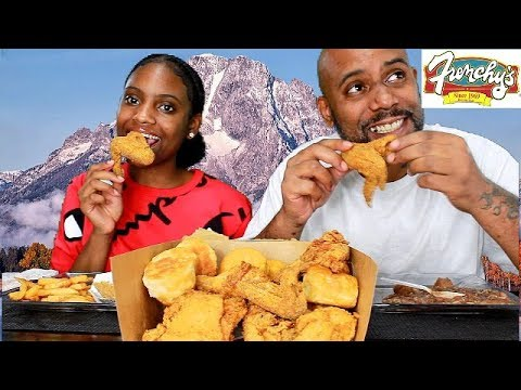 HOUSTON'S FAMOUS FRENCHY'S FRIED CHICKEN! MUKBANG EATING SHOW!