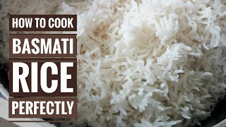 How to cook Perfect Basmati Rice, white rice, boiling white rice perfectly