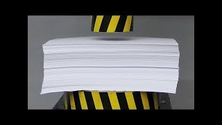 Гидравлический Пресс против 1000 листов бумаги