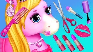 Fun Horse Care Games -pony Makeup, Dress Up Style & Color Hair Salon Makeover Kids & Girls Games