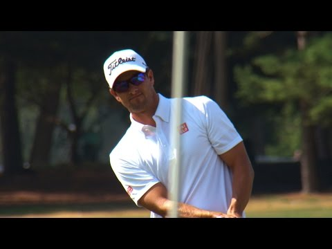 Adam Scott pre-round warm-up routine
