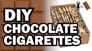 DIY Chocolate Cigarettes, Corinne VS Chocolate