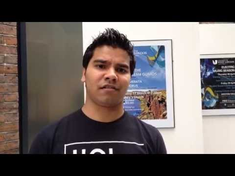 UWL Music student Gavin Fernandes explains why he chose to study at LCM