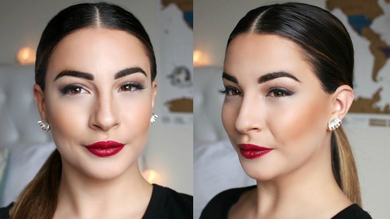 celebrity inspired sleek low ponytail - youtube