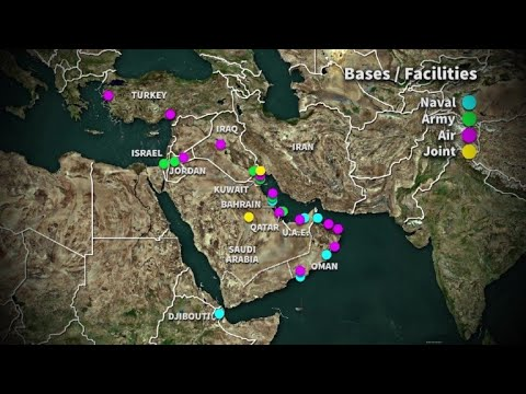 US Military Bases In The Middle East | AFP Animé