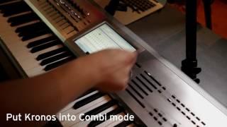 Korg Kronos Quick Combi Guide Part 1 Creating A Basic Split On Your Kronos