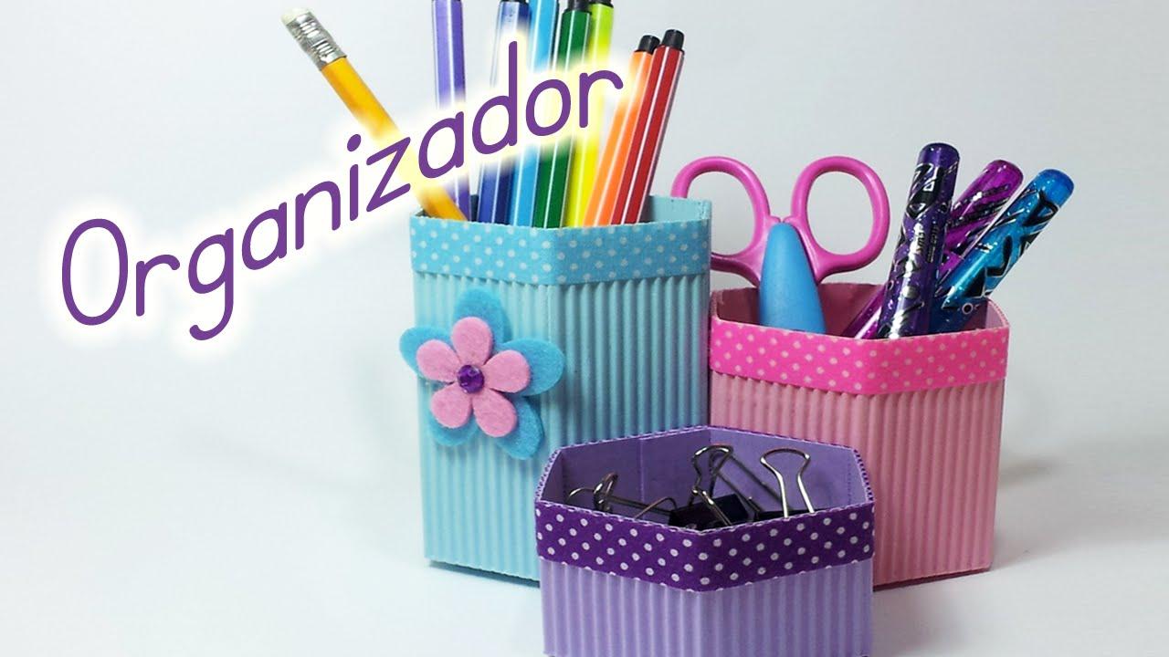 manualidades organizador de escritorio portalapices