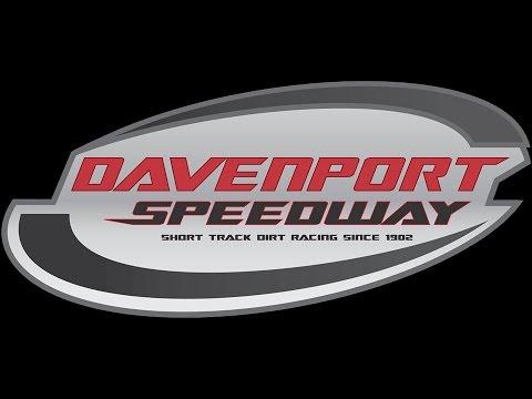 Davenport Speedway late model heat race 4
