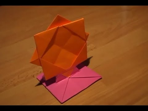 How To Make An Origami Photo Frame Youtube