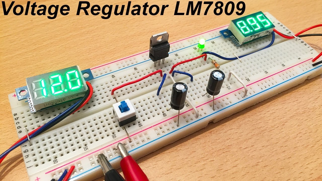 Lm7809 Voltage Regulator Tutorial By Ste Youtube How To Build Protection For Regulators Electronicprojects Electronic