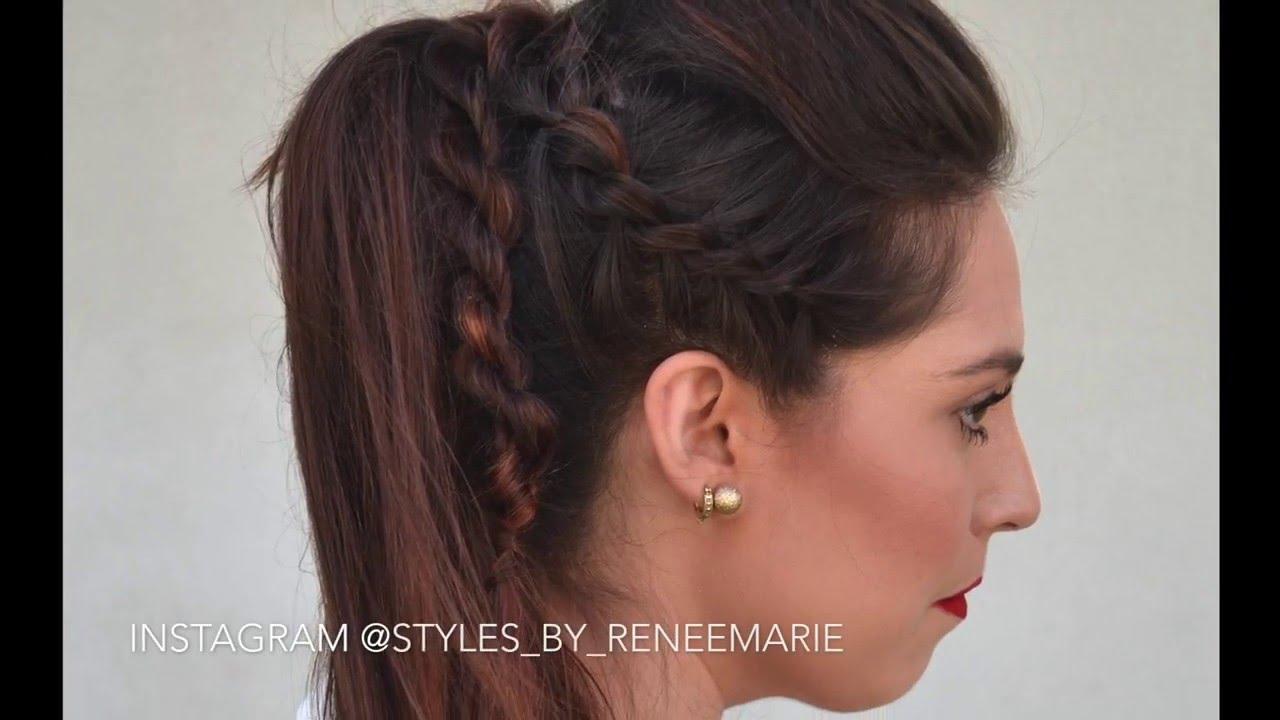 double-strand twist- rockstar ponytail