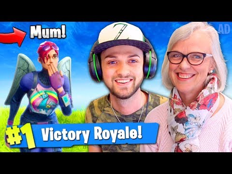 Ali-A's MUM WINNING Fortnite: Battle Royale!?
