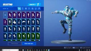 FrostBite Fortnite Skin Danceing avec plus de 35 emotes !!!!! Fortnite Bataille Royale