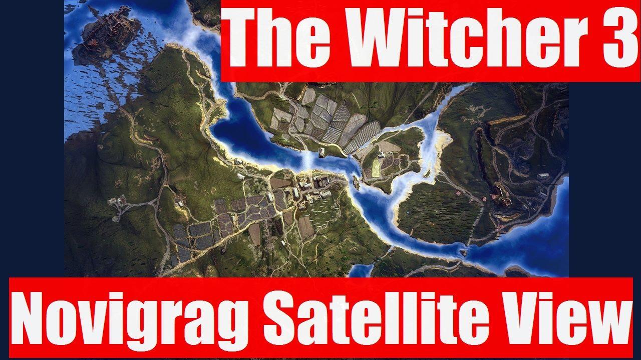 Novigrad And Velen Aerial View Satellite Like Video The - World map satellite view video