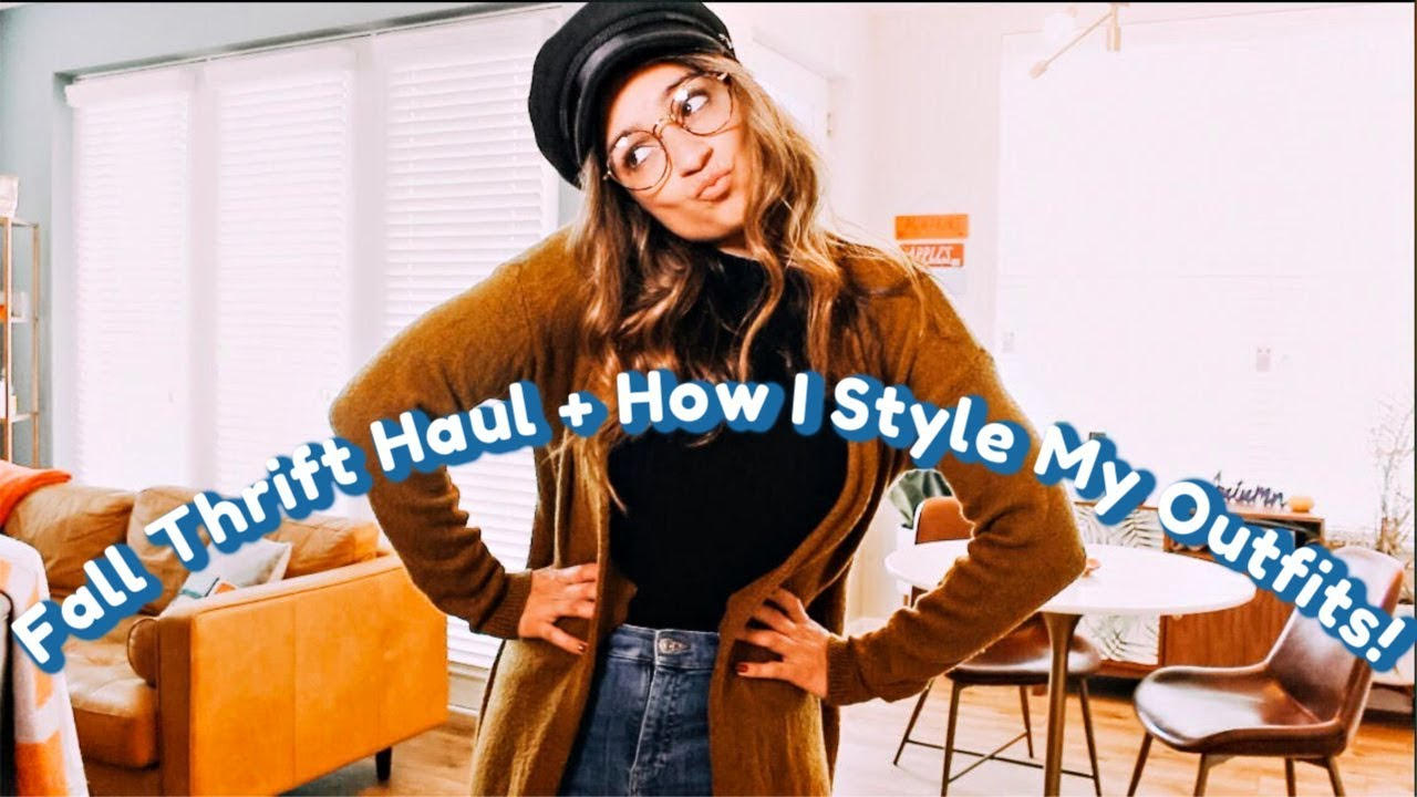 Fall Thrift Haul + How I Style My Outfits! 6
