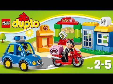Лего Дупло. Погоня за воришкой. Lego Duplo. My first police set