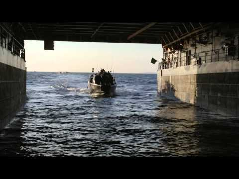 Allied forces practice amphibious assault in northern Poland