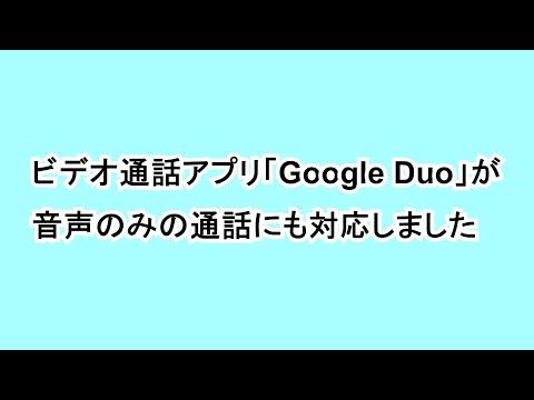 ビデオ通話アプリ「Google Duo」が音声のみの通話にも対応しました