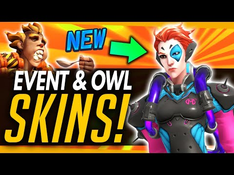 Overwatch | NEW EVENT EMOTES & INTRO - All Cosmetics & NEW OWL Skins