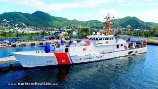 DJI INSPIRE Drone Tour, with US COAST GUARD Ship on Patrol!  Simpson Bay, SXM, St Martin, Caribbean