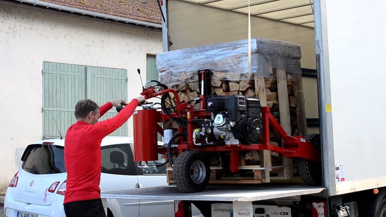 Livraison de bois de chauffage en palette YouTube # Bois De Chauffage Ouest Lyonnais