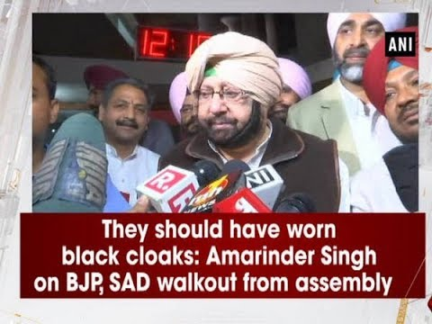 They should have worn black cloaks: Amarinder Singh on BJP, SAD walkout from assembly   - ANI News