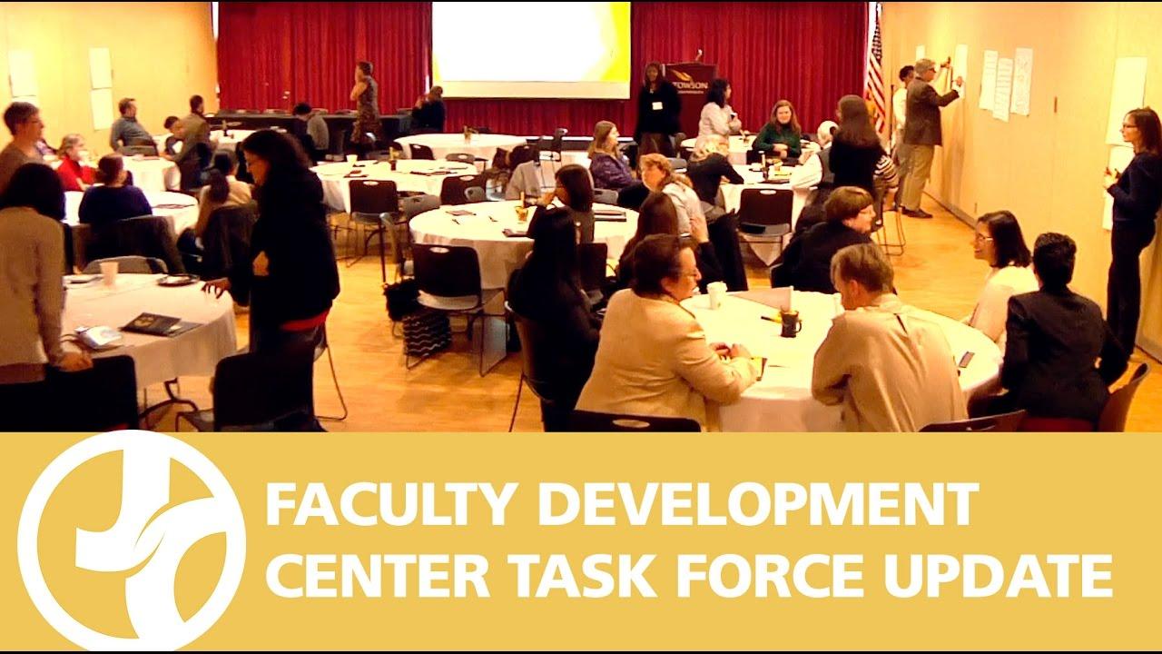 Faculty Development Center Task Force Update - YouTube