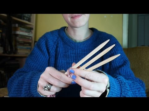 ASMR Weaving Sticks: soft speaking, fabric rustling, tapping, sticky fingers