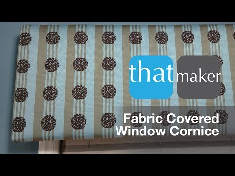 thatwindowcornice - DIY Upholstered Window Cornice - Plywood and Fabric