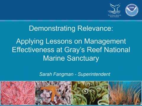 Applying Lessons on Management Effectiveness at Grays Reef N