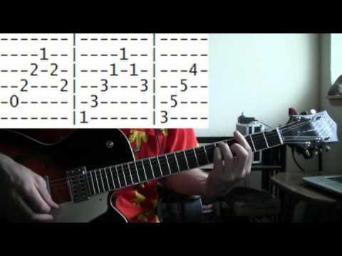 guitar lesson Santo & Johnny sleepwalk tab - YouTube