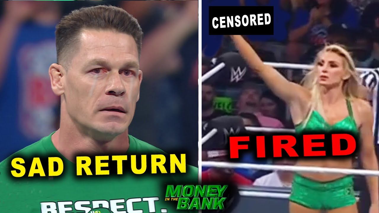 John Cena Sad Return & Charlotte Flair Fired by WWE - 5 Hidden Things at WWE Money in the Bank 2021