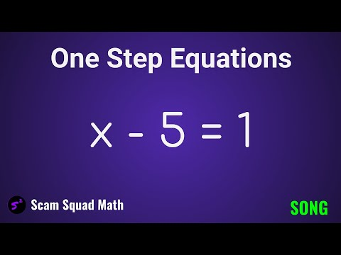 One Step Equations Song