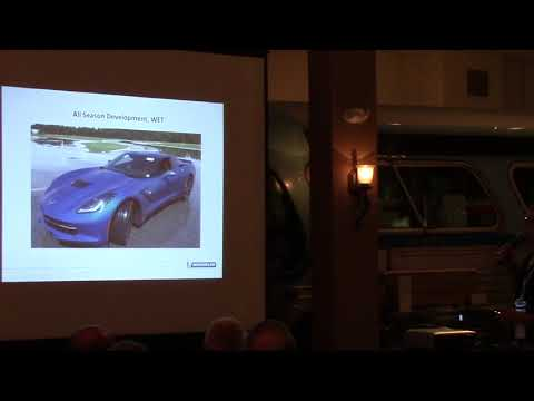 Lee Willard (Michelin) presents at Hershey for Corvette Racing 2017