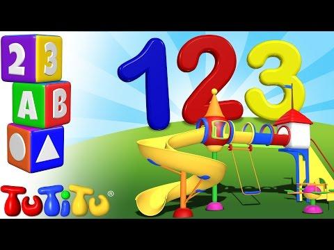 TuTiTu prescolastico | Impara l'inglese | conta fino a 10 | 123 Terreno di gioco