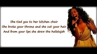 HALLELUJAH KARAOKE LOWER TONE  ( IN THE STYLE OF ALEXANDRA BURKE) HD