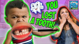 BOY LOSES HIS TOOTH! BIT INTO THE TOY! DINGLE HOPPERZ SKIT THROWBACK!