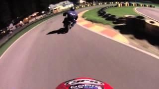 Minimotard 70cc X-Bikes Ferrara bagarre con caduta!!! Crash slide GOPRO