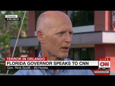 CNN Asks Rick Scott If He Is Responsible For Orlando Attack Because of FL Gun Laws